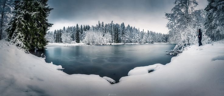 It finally rained the first snow here in Finland, so i headed to the Aulanko nature reserve to shoot some winter scenes. This is 180 degree HDR-Panorama taken from the very same spot that my previous image.