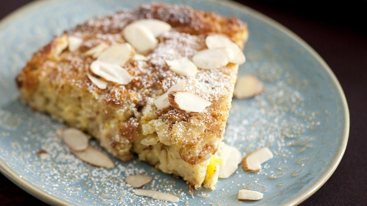 NYT Cooking: This flourless, crustless tart is rich, moist, sweet and and prepared almost entirely on the stovetop (with the exception of a few minutes spent under the broiler to crisp the top). It is the ideal decadent breakfast, a new twist on the classic coffeecake or last-minute dessert.