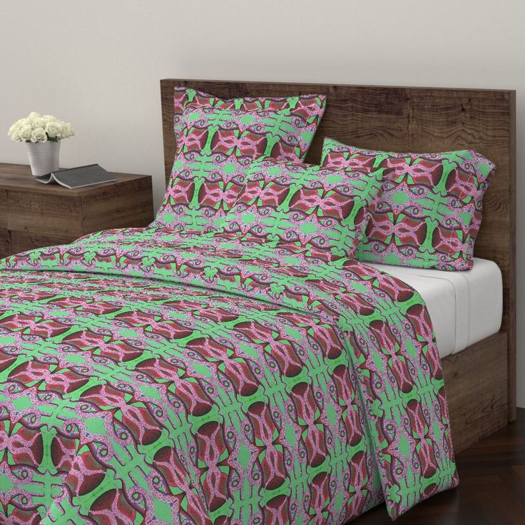 Wyandotte Duvet Cover featuring Poulp by joancaronil | Roostery Home Decor