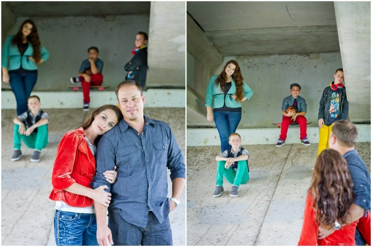 Family  photo shoot - great colors and set ups