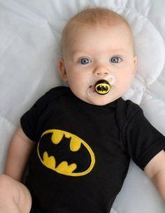 Baby boy bat man jumper and pacifier
