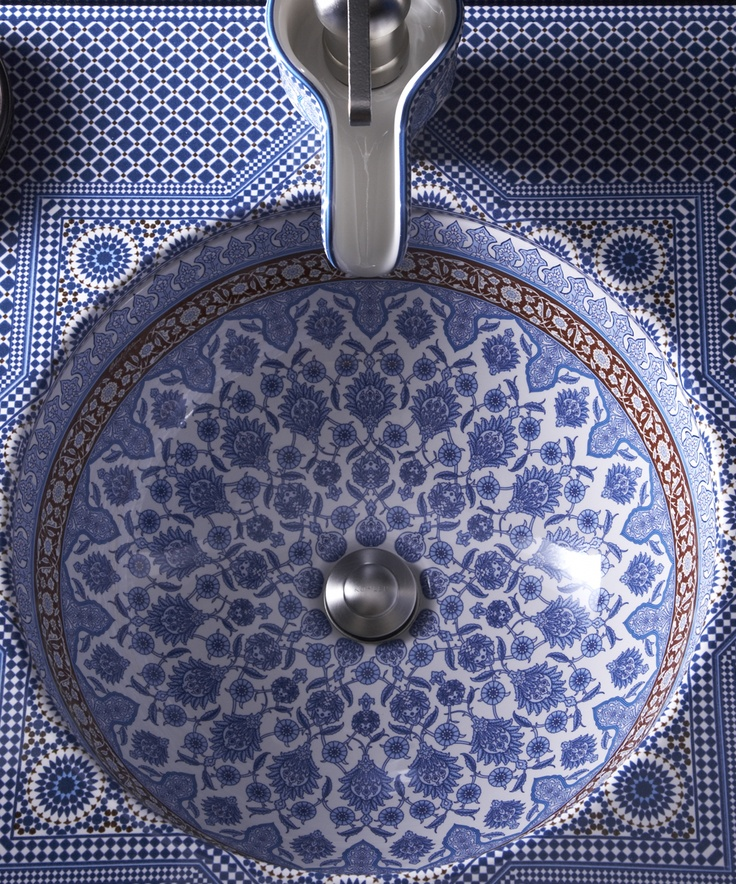 Kohler Marrakesh Artist Editions design. Beautiful! and that faucet is awesome!!!