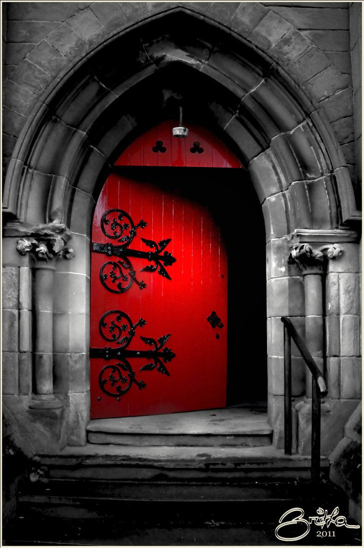 Gothic Door - Red my home one dream at a time & 172 best medieval doors images on Pinterest | Front doors Windows ... Pezcame.Com