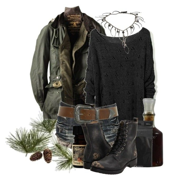 """""""The Mystic from Iron Mountain"""" by beyondthewallofsleep ❤ liked on Polyvore featuring Crate and Barrel, Barbour, Crafted, Topshop, Frye, Miss Selfridge, the witch of november, iron mountain, the wreck of the edmund fitzgerald and michigan legends"""