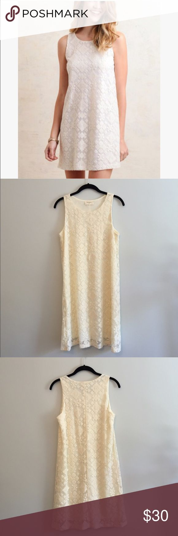 NWOT White Embroidered Dress NWOT. Never worn off white embroidered dress Everly Dresses