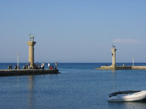 Photo of where the Colossus of Rhodes was