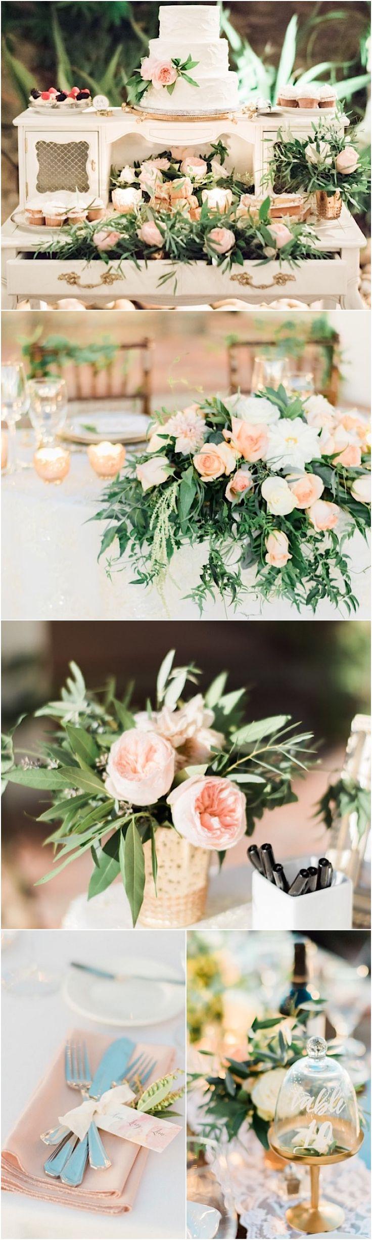 Blush wedding reception ideas; photo: Honey Honey Photography