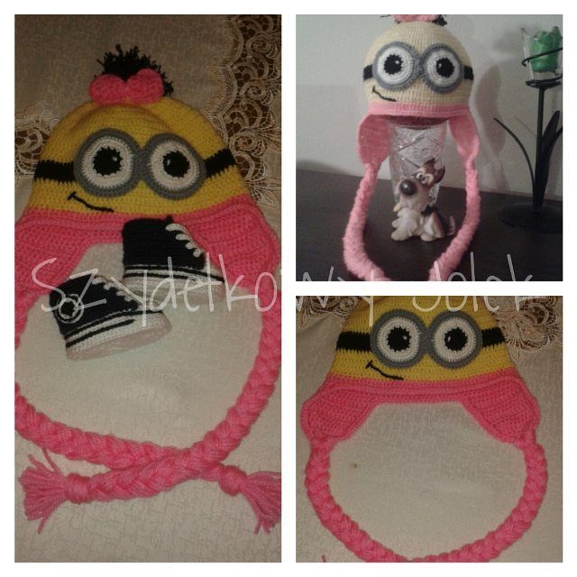 #czapeczka #miniony #szydelko #crochet