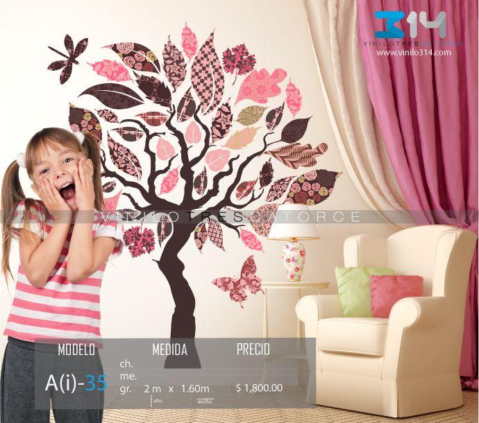 Vinilos decorativos rboles infantiles sticker decorativo for Calcomanias para pared infantiles