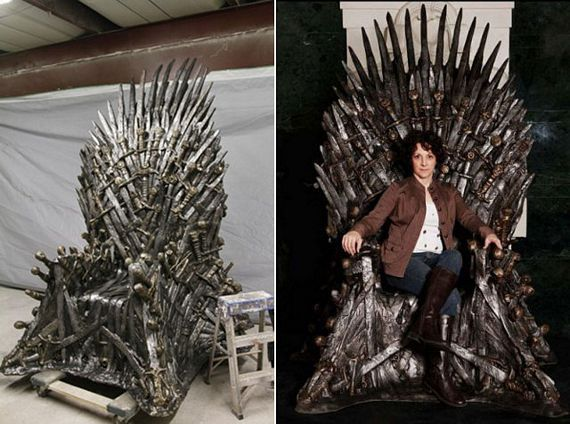 Life Size Game Of Thrones Iron Throne Replica. Haha, I will be the supreme ruler of my house!