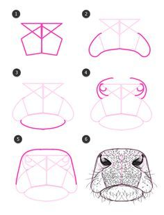 How to draw a cow nose/mouth