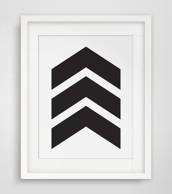Black Chevrons Chevron Wall Art Black and by MelindaWoodDesigns #blackdecor