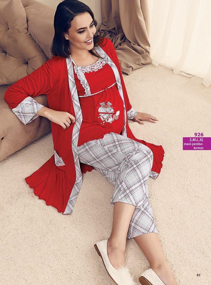 Artış 926 Üçlü #Lohusa #Pijama Takım | Mark-ha.com #stylish #fashion #newseason #yenisezon #trend #moda #hamile #lohusa #doğumçantası #hastaneçıkışı