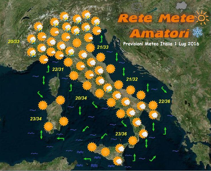 Previsioni Meteo Italia 1-7-2016