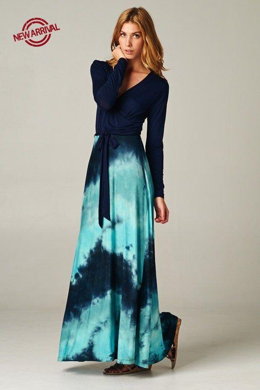 New! Tie Dye Maxi Dress http://www.modestpop.com/products/tie-dye-maxi-dress