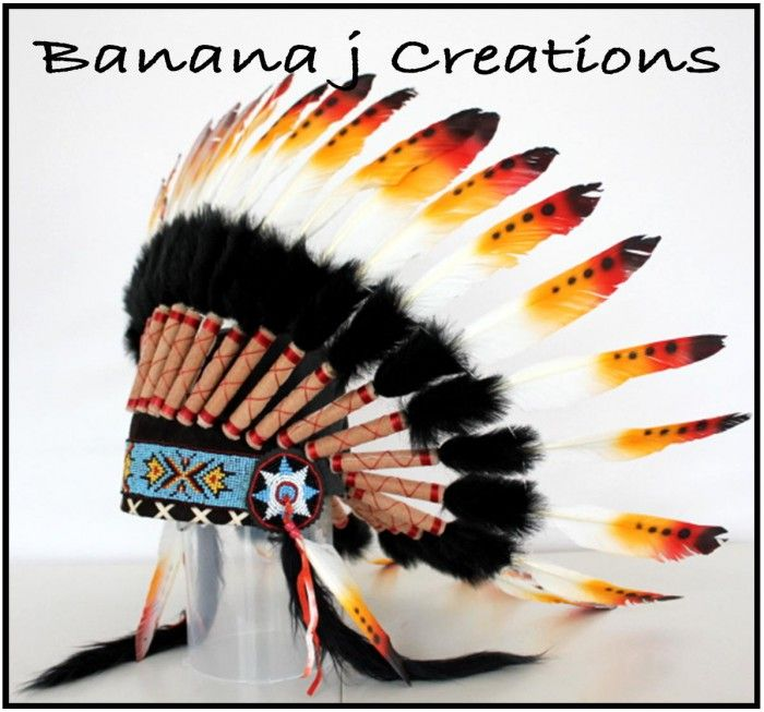 Black Sunrise Headdress - Banana j Creations