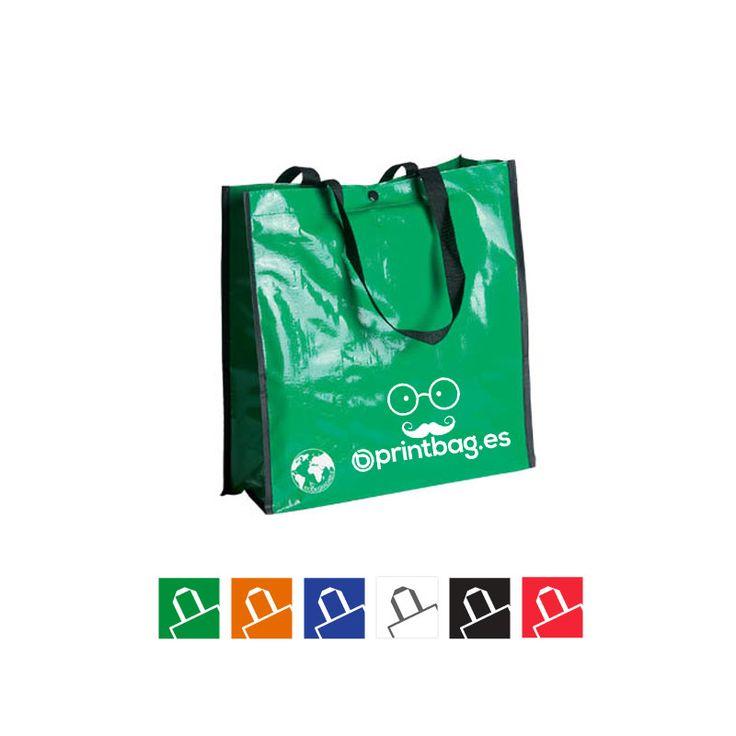 Venta de bolsas para la compra reutilizables verdes impresas con tu logo