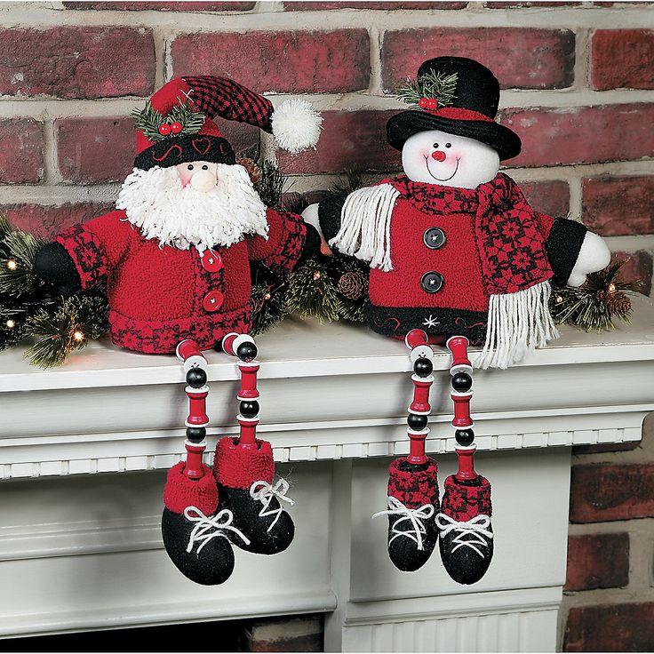 Dangle Leg Santa Amp Snowman Terrysvillage Com Dangle