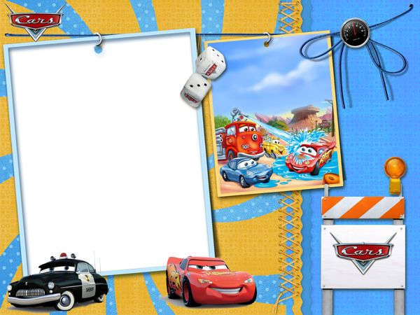 Cars Kids Transparent Photo Frame