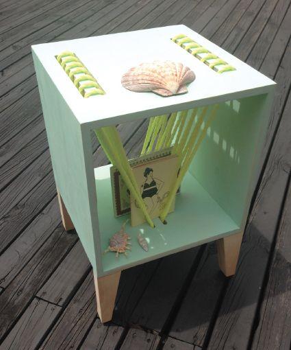 #wood #sidetable #table #pine #robe #neon #beach #vibes #perlanegra