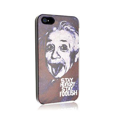 http://bit.ly/StayhSf - #Einstein Cover #iPhone Affidati ai più famosi personaggi che, in sintonia con la filosofia Apple, hanno lasciato il segno nella storia. Qual è la celebrità che più ti assomiglia?