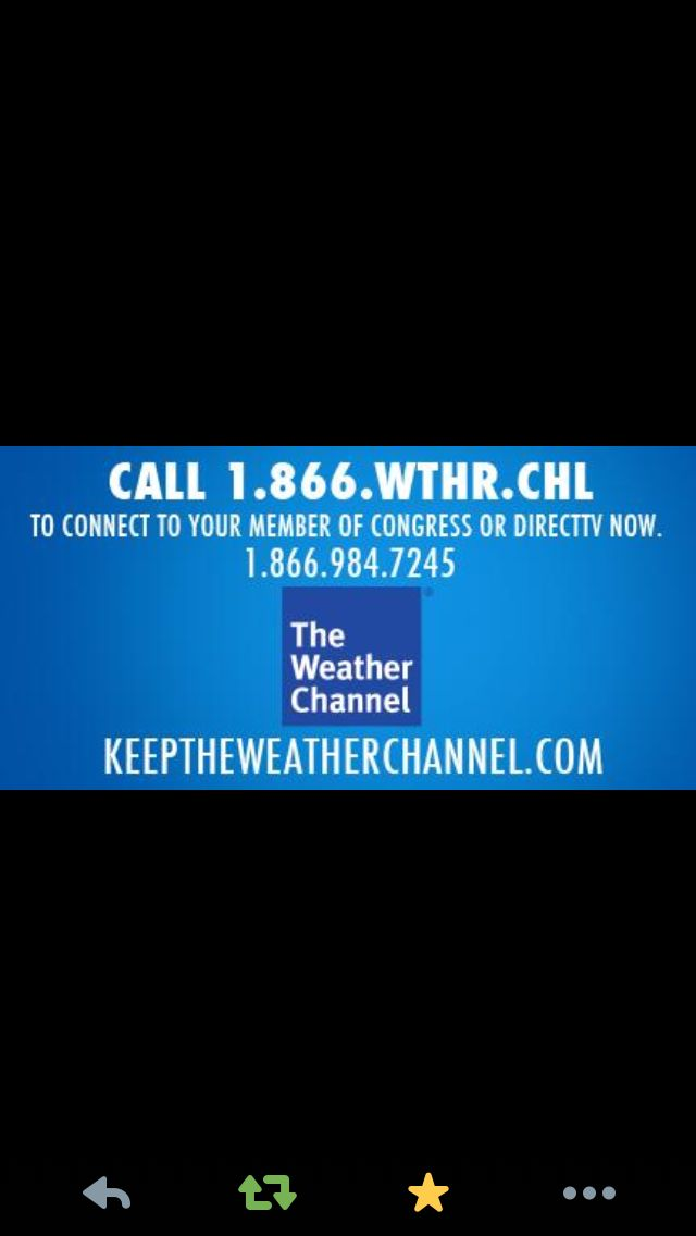 direct tv may drop  weather channel from lineup on 1  14  take action   keeptheweatherchannel