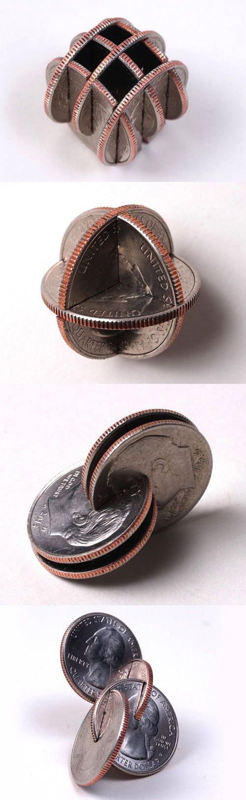 Art with coins… First thought thats pretty cool, next thought what a waste of good money... yes im that broke