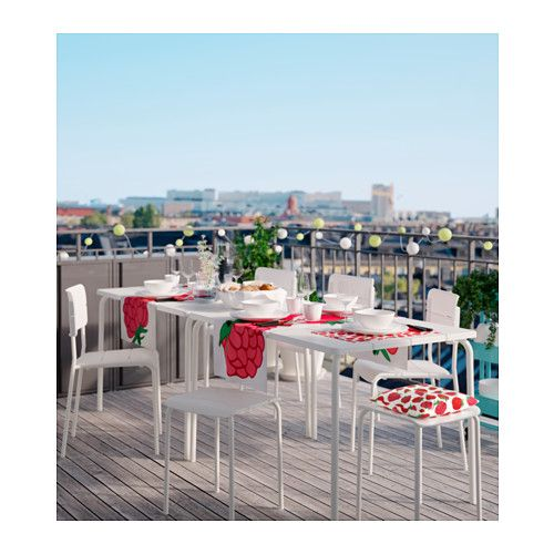 Get 2 sets of four $340 VÄDDÖ Table, outdoor  - IKEA