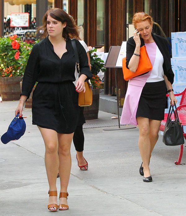 Sarah Ferguson y la princesa Eugenia en Nueva York.