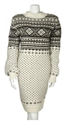 D Heavy Fair Isle Knit Dress #fashion
