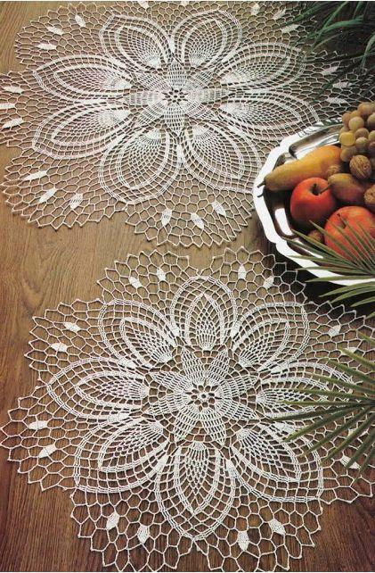 Crochet doilies - free pattern          sanly                    …