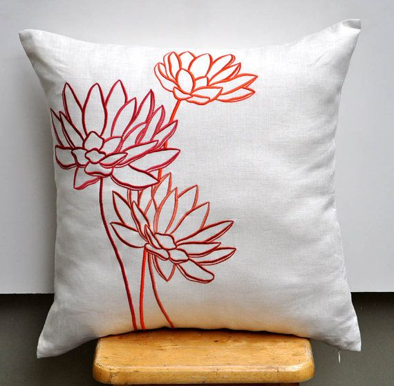 Water+Lily+Cushion+Cover+Decorative+Throw+Pillow+Cover+by+KainKain,+$23.00