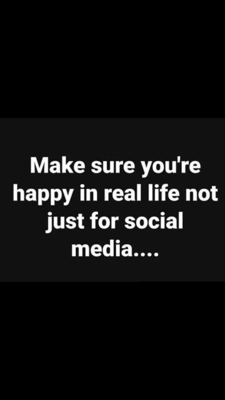 Amen! People take social media way too seriously and let it take control of their life