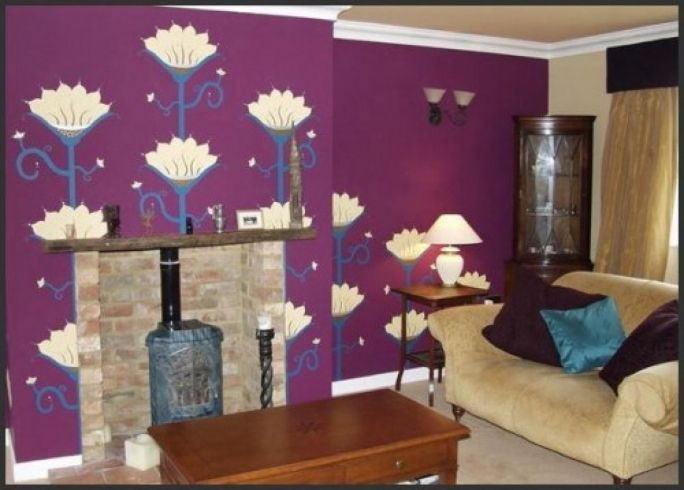 10 Best Red And Purple Living Room