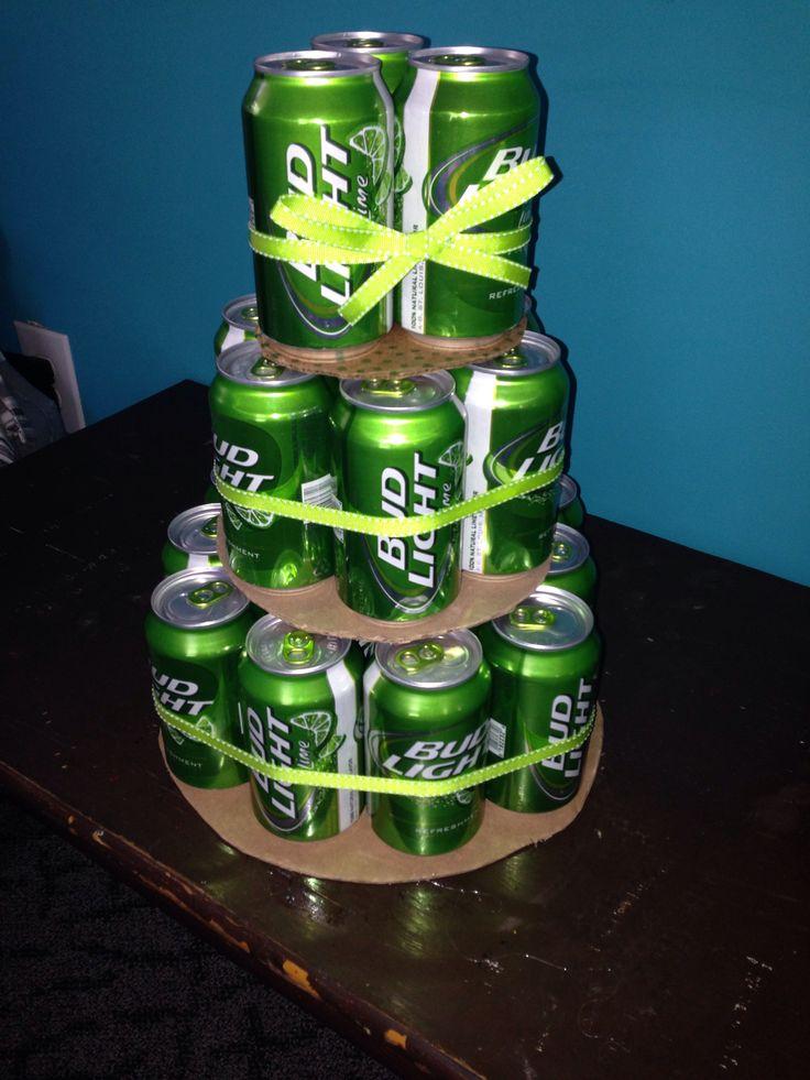 Bud Light Lime beer cake. Cool 21st birthday idea