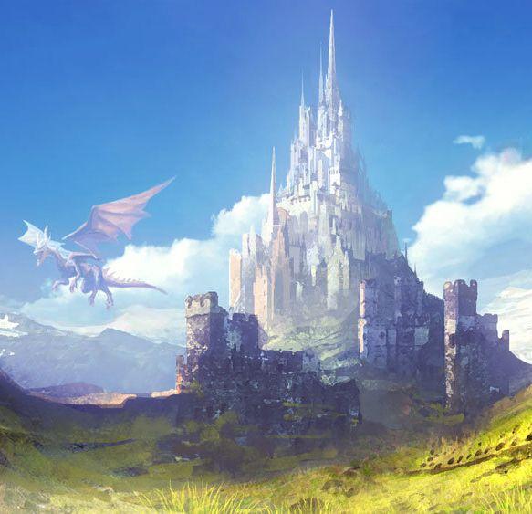 landscapes castles fantasy art - photo #48
