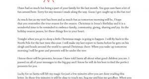 Printable Goodbye Letter from Elf on the Shelf