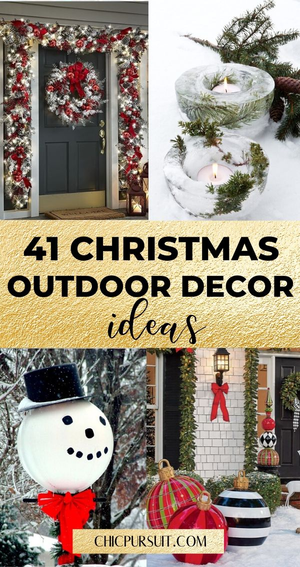 40 Best Diy Christmas Outdoor Decorations That Your Family Will Love Christmas Decor Diy Outdoor Christmas Diy Outdoor Christmas