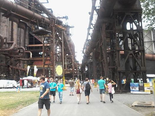 Colours of ostrava - awesome industrial place for festival :) — w mieście:Ostrawa.