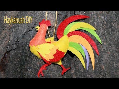 DIY Петушок из Фетра Своими Руками Символ Нового 2017 Года/ Felt Toy DIY Tutorial - YouTube