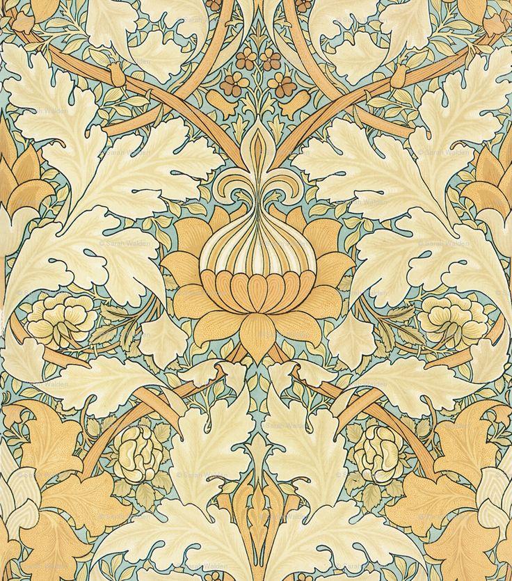 William Morris ~ Growing Damask - peacoquettedesigns - Spoonflower
