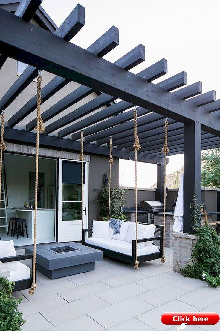 36 Creative Metal Frame Pergola Designs 2019 Backyardideas Pergoladesigns Pergoladeck Pergolawithroof Outdoor Kitchen Patio Patio Design Backyard Pergola