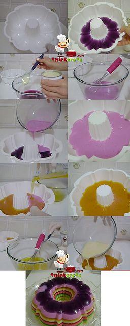 Rainbow Gelatin easy recipe