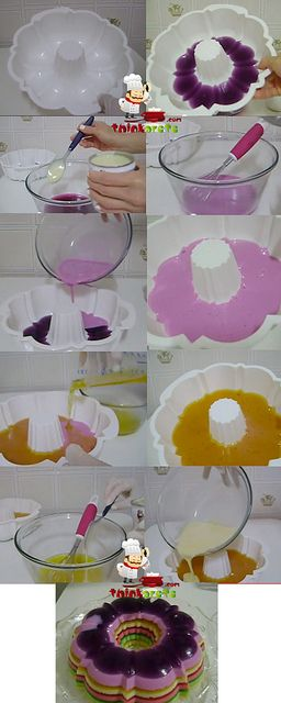 Rainbow Gelatin easy recipe