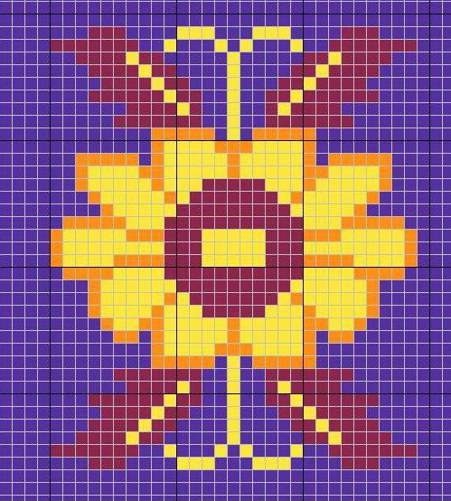 FREE PATTERN : crochet chart for tapestry crochet