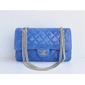 Sac a main Chanel Bleu Snakeskin MAINX56471M, Lancel Soldes