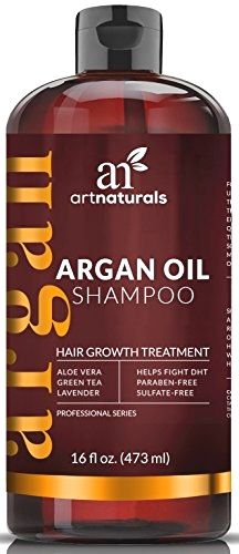 """Art Naturals Organic Argan Oil Hair Loss Shampoo for Hair Regrowth 16 Oz – Sulfate Free – Best Treatment for Hair Loss, Thinning & – Growth Product For Men & Women – Infused with Biotin – 2016 BUY NOW $19.93 """"Whether you're male or female, noticeab"""
