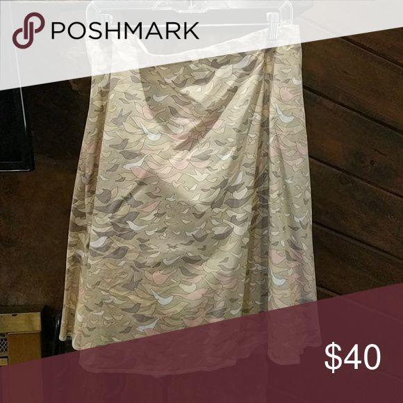 Handmade skirt Handmade skirt with patterned birds handmade Skirts A-Line or Full