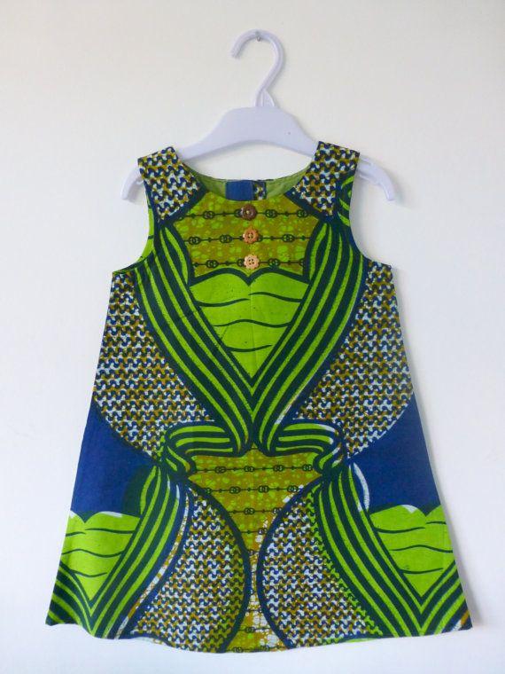 Handmade African Ankara Baby Dress 34 Years by Shakarababies, £21.00