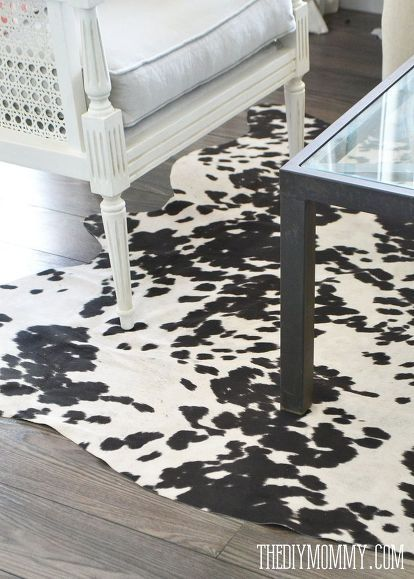 a faux cowhide rug for less than 50, home decor, reupholster